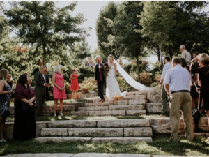 Wedding in the OSU Wooster amphitheater.