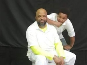 Maketia Haralson (left) completed a personal finance course offered by Ohio State University Extension, which he said has benefited him, his son Malachi (right) and the rest of their family. Family portrait courtesy of Maketia Haralson.