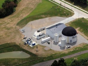 quasar energy group's digester provides the OARDC campus with 30 percent of its electricity. (Photo by Ken Chamberlain)