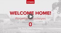 Welcome home, CFAES Buckeyes!