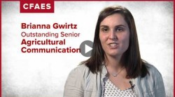 Brianna Gwirtz: My major is Agricultural Communication.